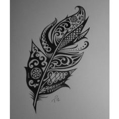 detailed feather tattoo - Google Search