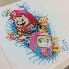 Mario daruma bross Daruma Doll, Super Nintendo, Asian Style, Tatting, Piercings, My Favorite Things, Oriental, Tattoo Designs, Sketch