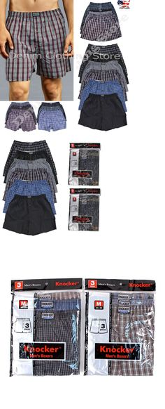657aa33b20e7 Underwear 11507: Men Knocker Boxer Trunk Plaid Shorts Underwear Cotton  Briefs Wholesale Lot S-3Xl -> BUY IT NOW ONLY: $48.99 on eBay!