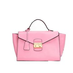 Prada Grained Calf Leather Flap Bag BR5034 Pink - $279.00