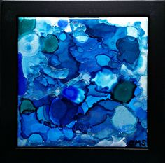 Out of the Deep $45 This beautifully painted 6x6 inch tile is mounted in a black frame, resulting in a final size of 8x8 inches.  The painting is sealed with a light coat of varnish for protection and is ready to hang. Sargent Art, Tile, Deep, Canvas, Coat, Creative, Frame, Artwork, Painting
