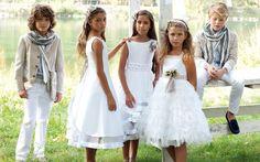 Os dejamos con propuestas de las primeras marcas italianas para vestir a las niñas y a sus invitadas en la Primera Comunión.