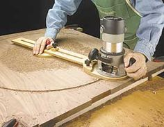 woodworking plan router circle shop jig