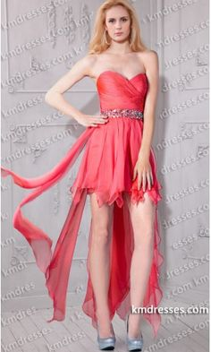 Chic Ruched strapless fitted embellished Hi Lo gown.prom dresses,formal dresses,ball gown,homecoming dresses,party dress,evening dresses,sequin dresses,cocktail dresses,graduation dresses,formal gowns,prom gown,evening gown.