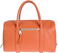 CHLOÉ - Orange Large Leather Bag