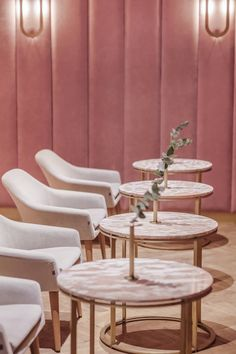 Pastel perfection abounds in this pink on pink interior design for the Nanan Patisserie in Wroclaw, designed by local firm BUCK. Commercial Interior Design, Best Interior Design, Luxury Interior, Interior Design Inspiration, Commercial Interiors, Architecture Restaurant, Restaurant Design, Design Hotel, Cafe Interior