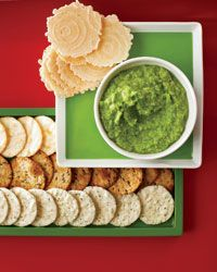 As a dairy-free alternative to creamy dips, the recipe here calls for pureeing sweet peas with scallions, ginger and jalapeño, then seasoning the mix with yellow miso. Serve the spread with different kinds of crackers and breads or sugar snap peas and celery for dipping.