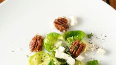 Warm Brussels Sprout Salad With Smoked Feta and Candied Pecans Recipe - NYT Cooking