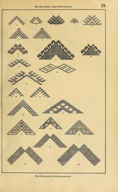 Mordvalaisten pukuja kuoseja. Trachten und Muster der Mordvinen Costumes and patterns of Mordvinians (149 of 638)