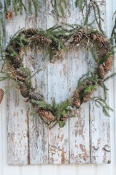 You can`t use up CREATIVITY. Natural Christmas, Noel Christmas, Scandinavian Christmas, Country Christmas, Winter Christmas, Christmas Wreaths, Christmas Crafts, Xmas, Christmas Centerpieces