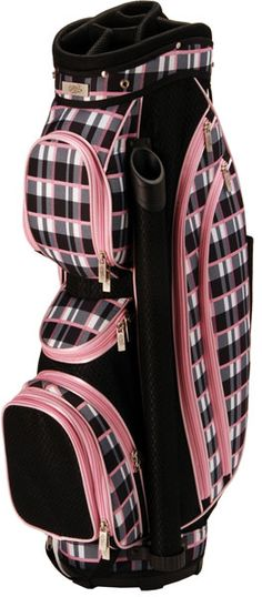 Awesome Details About New RJ Sports Golf Ladies Sapphire Cart Bag Sand Plaid