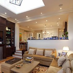Step Down To Family Room Design Ideas Step Down To