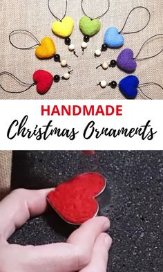 Needle Felted Ornaments, Felted Wool Crafts, Christmas Needle Felting, Felt Christmas Decorations, Felt Christmas Ornaments, Handmade Christmas, Christmas Tree, Wool Needle Felting, Needle Felting Tutorials