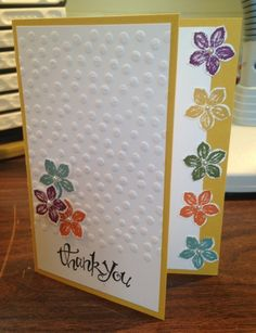 Petite Petals thank you card