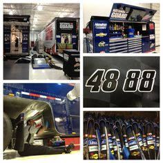 The Nos. 48 and 88 teams are busy packing the transporters for @Michelle Anderson International Speedway. #NASCAR #JimmieJohnson #DaleJr