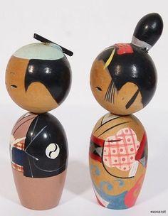 kokeshi pair   --------- #japan #kokeshi