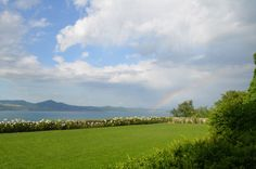Twitter / ClaudiaMan: Rainbow in Bracciano lake