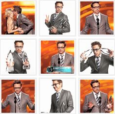 Robert Downey Jr. accepting People's Choice Award