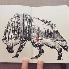 "Sketch No. 9 ""Red Riding Hood"""