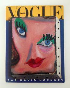 PARIS VOGUE - DECEMBER 1986 / JANUARY 1987 COVER MODEL : DAVID HOCKNEY PAINTING