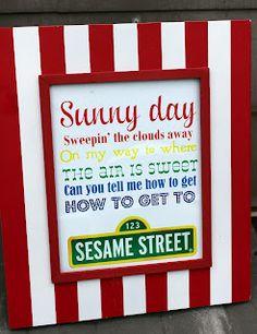 Sesame Street First Birthday Party
