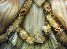 ribbonsmyth: Ballet Costume featuring folded fabric roses