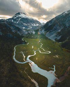Glacial runoff through an alpine meadow below Pukulkul Peak in Golden Ears Provincal Park. British Columbia. [2397x2996]