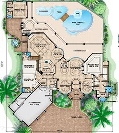 images about Le Dream house    on Pinterest   House plans    Florida House Plan chp    First Floor   at COOLhouseplans com
