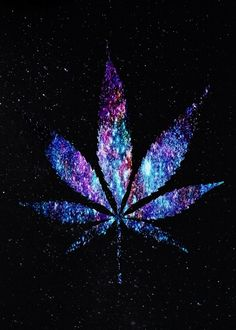 Galaxy Purple & Blue Weed Leaf =P