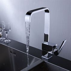Special Offers Available Click Image Above: Sprinkle By Lightinthebox - Contemporary Brass Kitchen Faucet (chrome Finish) Wall Mount Kitchen Faucet, Black Kitchen Faucets, Kitchen Fixtures, Transitional Living Rooms, Transitional Decor, Kitchen Disposal, Home Depot, Cheap Kitchen Faucets, Kitchen Sinks
