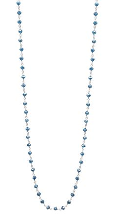 Blue Diamond 14K White Gold Rosary Bead by TIAARA (Also available in Yellow Gold)