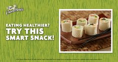 "Yes, YOU can make sushi — Mock Sushi. Frigo® Cheese Heads® delivers a fresh, healthy, ""smart"" take on sushi that's fun to make — and delicious to enjoy. Smart Snacks, Healthy Snacks, Healthy Eating, Cambells Recipes, Halloween Stencils, 2nd Grades, Watch Cufflinks, Good Food, Yummy Food"