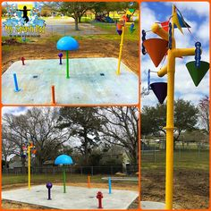 We installed 2 different community splash pads for the Parish in Iberia, LA.  The identical fresh water spray parks will give children a chance to play that are in walking distance to the 2 community parks.  We go back in a few weeks to add MSP Safer Surface to the concrete since the concrete will be cured out by then.