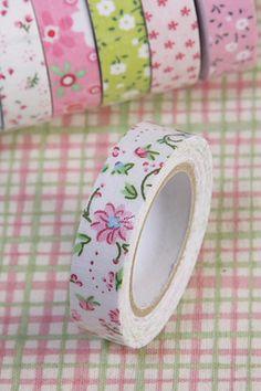 Flower Washi Tape Deco Sticker Adhesive 4 Design Masking Scarpbooking Craft Gift | eBay