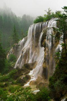 Bucura Lake, Waterfall, Retezat Mountains, Romania.