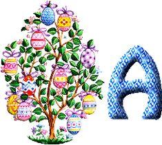 Oh my Alfabetos!: Alfabeto para Pascua de árbol con cascarones.