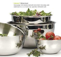 RSVP International beautiful stainless steel bowls.