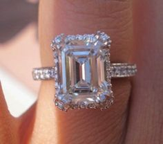 I'm fascinated by emerald-cut rings :)
