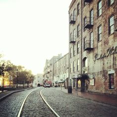 Morning on River Street in Savannah Photo by markrodocker