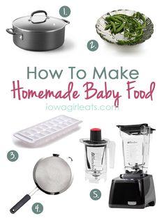 How to Make Homemade Baby Food | iowagirleats.com