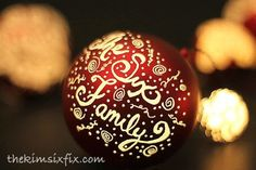 Engraved and Illuminated Plastic Ball Ornaments - perfect for gift giving and tree decorating