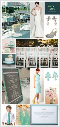 Tiffany Blue Wedding Inspiration like chair idea but with black chairs