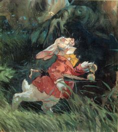 """alicismo: """" Alice In Wonderland/David Hall Story Art Stills - The White Rabbit Makes His Appearance. """""""