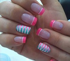 Ideas for nails art summer ring finger Fancy Nails, Diy Nails, Cute Nails, Pretty Nails, Fingernail Designs, Gel Nail Designs, Acryl Nails, French Tip Nails, Creative Nails