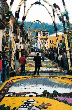 -Alfombras de flores en la ciudad de Tarma, Junin - Perú.-JavierHabich14