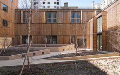 LAN student housing Paris courtyard