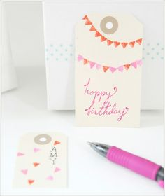 bunting flag stamp DIY by rosella