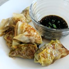 I've outdone myself today. I've made the holy grail of appetizers – the potsticker – AKA gyoza, AKA dumpling. Whatever you prefer to call them, they̵… Pork Recipes, Asian Recipes, Low Carb Recipes, Diet Recipes, Cooking Recipes, Healthy Recipes, Low Carb Sauces, Quick Recipes, Healthy Food
