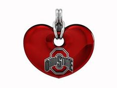 Show Your Buckeye Pride With Diamond Cellar's Exclusive Ohio State Buckeyes Heart Necklace By Collegiate Jewel. Red Enamel Over Sterling Silver With Black And White Writing On A Sterling Silver Chain. Price: $129