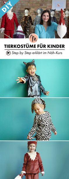 Einmal ein Tier sein, mit diesem passenden Kostüm zum selber nähen - Step by Step erklärt im Video-Kurs via Makerist.de